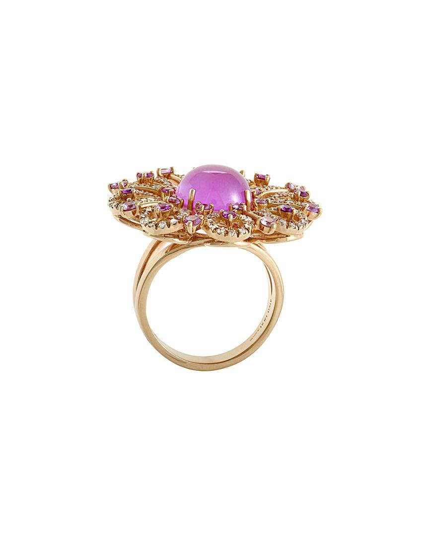 Roberto Coin 18k Rose Gold 0.58 Ct. Tw. Diamond, Quartz, & Mother-of-pearl Ring in Pink