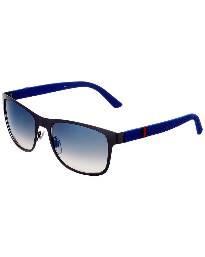 cc9549476595 Gucci Men's Gg2247/s 56mm Sunglasses in Blue for Men - Lyst