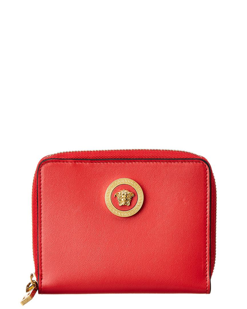 0d3d932021 Lyst - Versace Medusa Tribute Leather Zip Around Wallet in Red