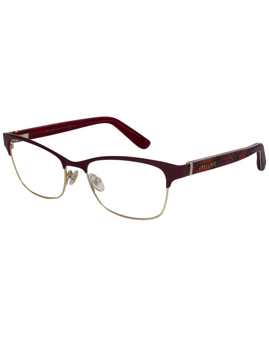 66f877fc595 Jimmy Choo Jc 99 53mm Optical Frames in Brown - Lyst