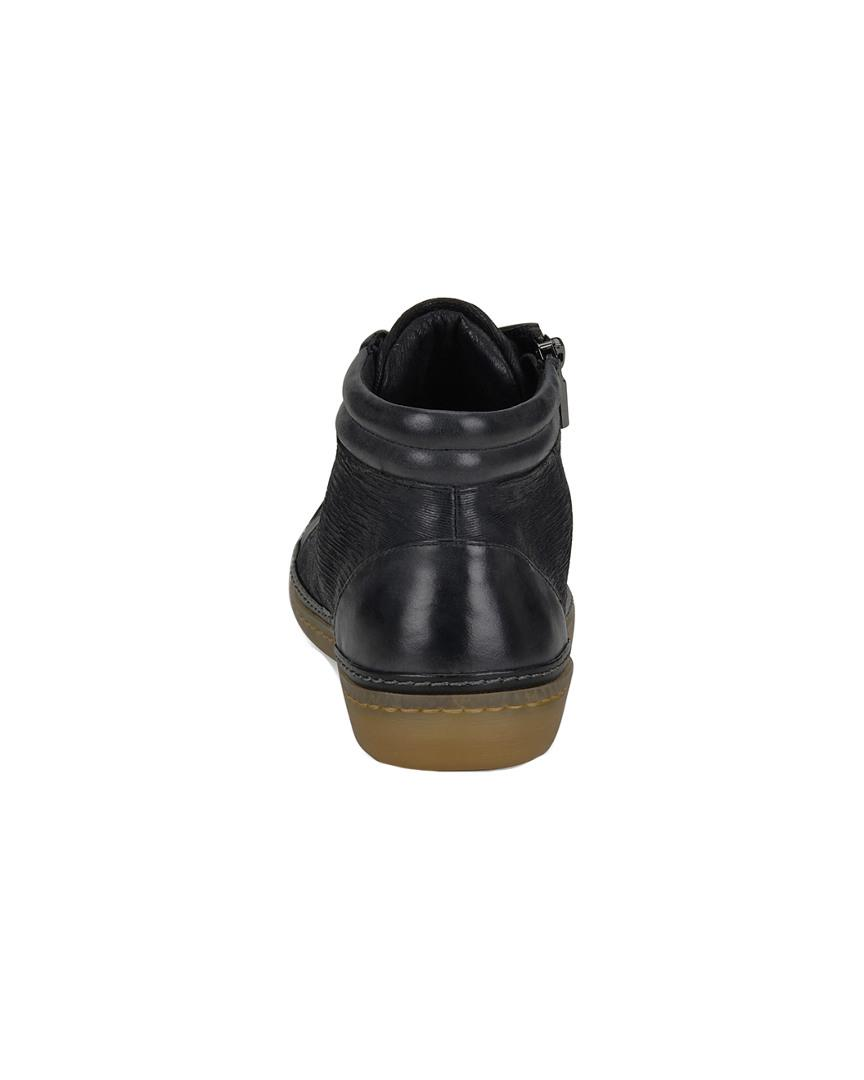 Söfft Annaleigh Leather High-top Sneaker in Black