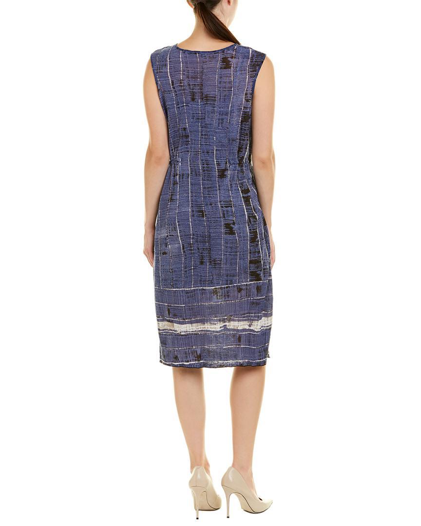 6ff995cbe12 Lyst - NIC+ZOE Petite Linen-blend Shift Dress in Blue