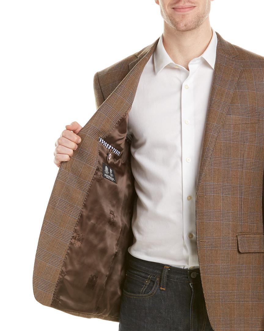 Austin Reed Wool Sportcoat In Brown For Men Lyst