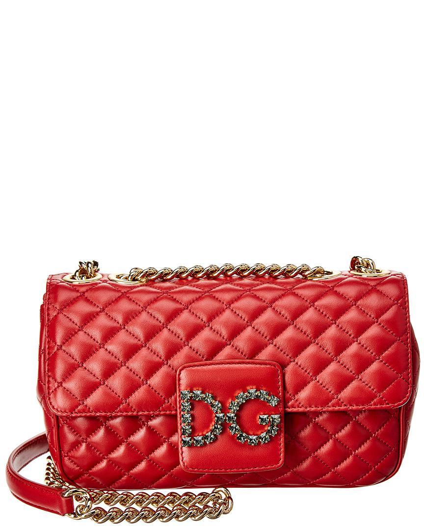 8a2f9722d5 Dolce   Gabbana Dg Millennials Leather Shoulder Bag in Red - Lyst
