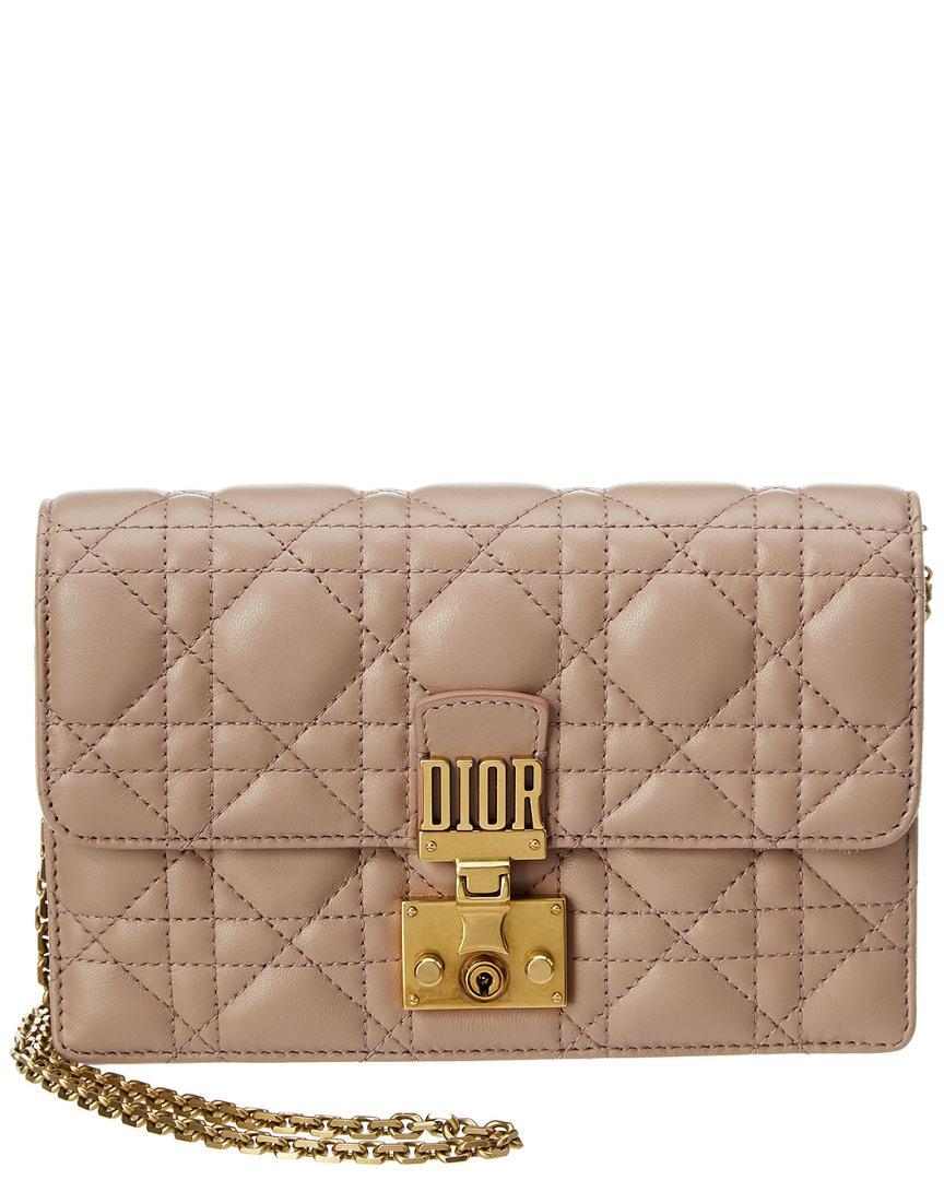 319adb66c1ad Dior Miss Leather Shoulder Bag in Pink - Lyst