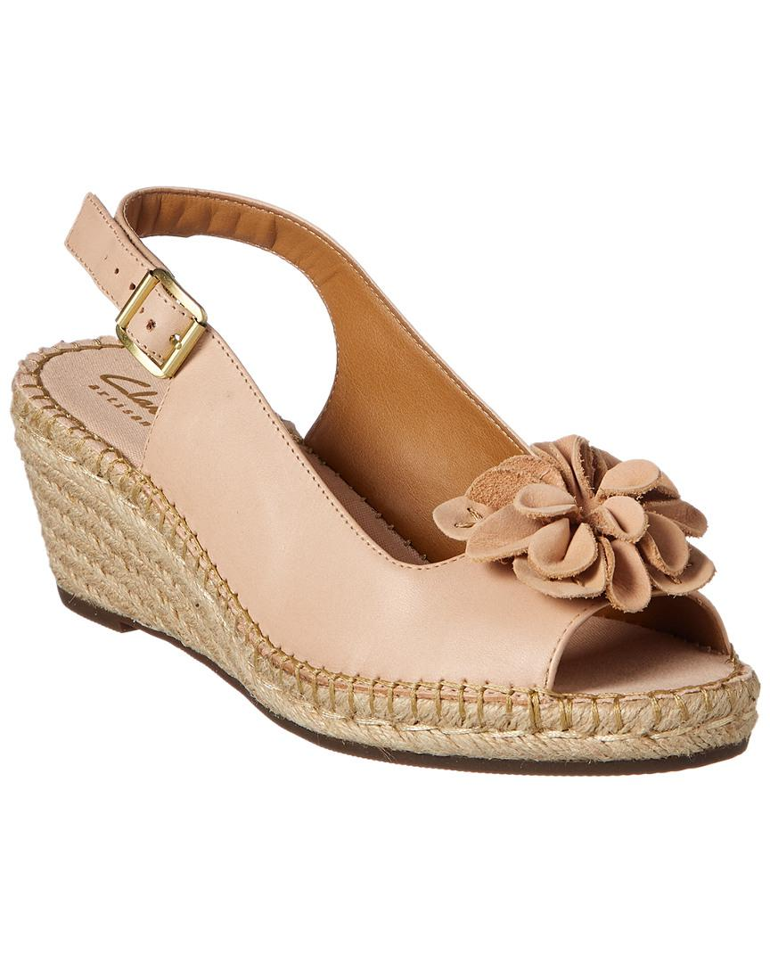 606810135e4 Lyst - Clarks Unstructured Women s Petrina Bianca Wedge Sandal in ...