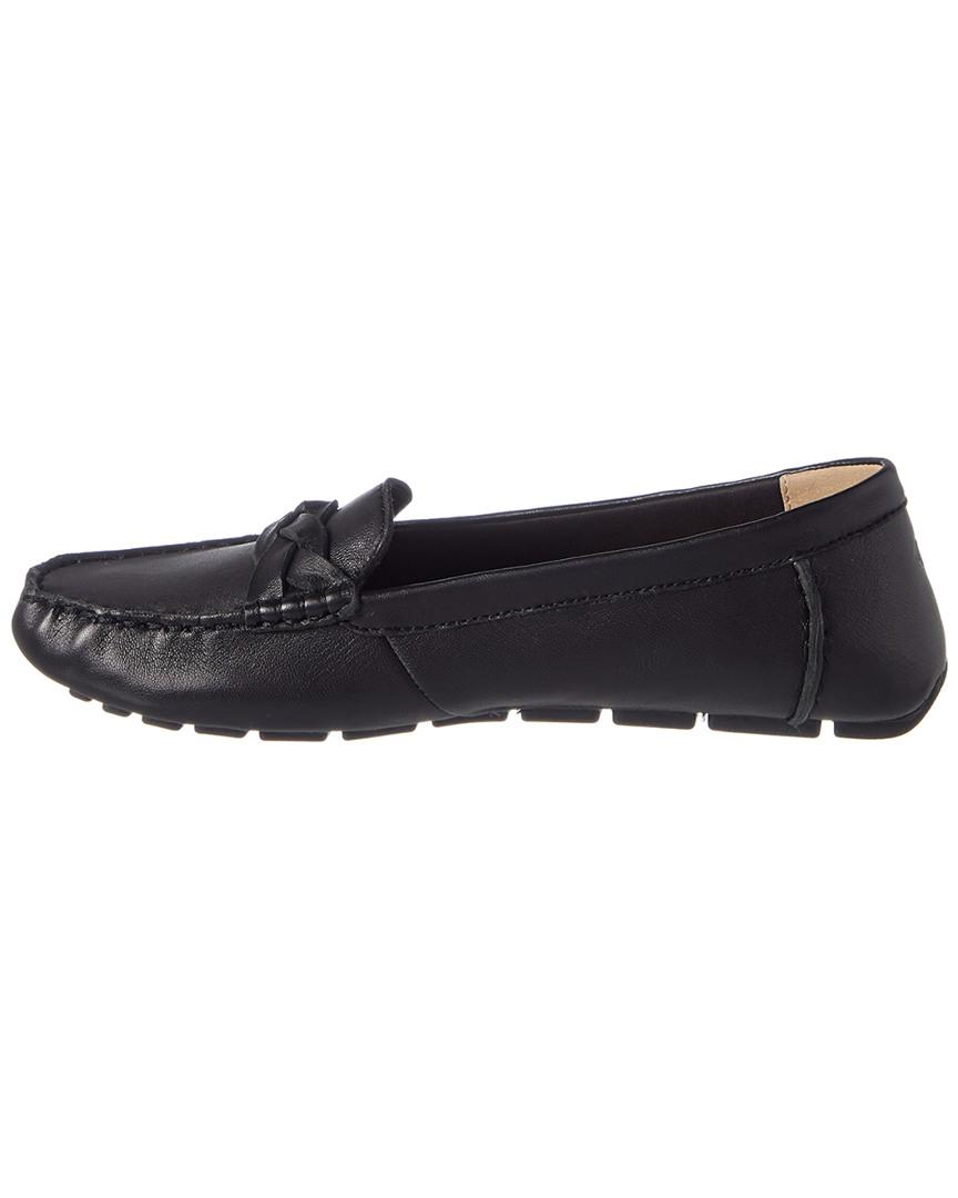 Leather Top Sperry Black Drivers Loafer Women's Sider Bridge v80mNwn