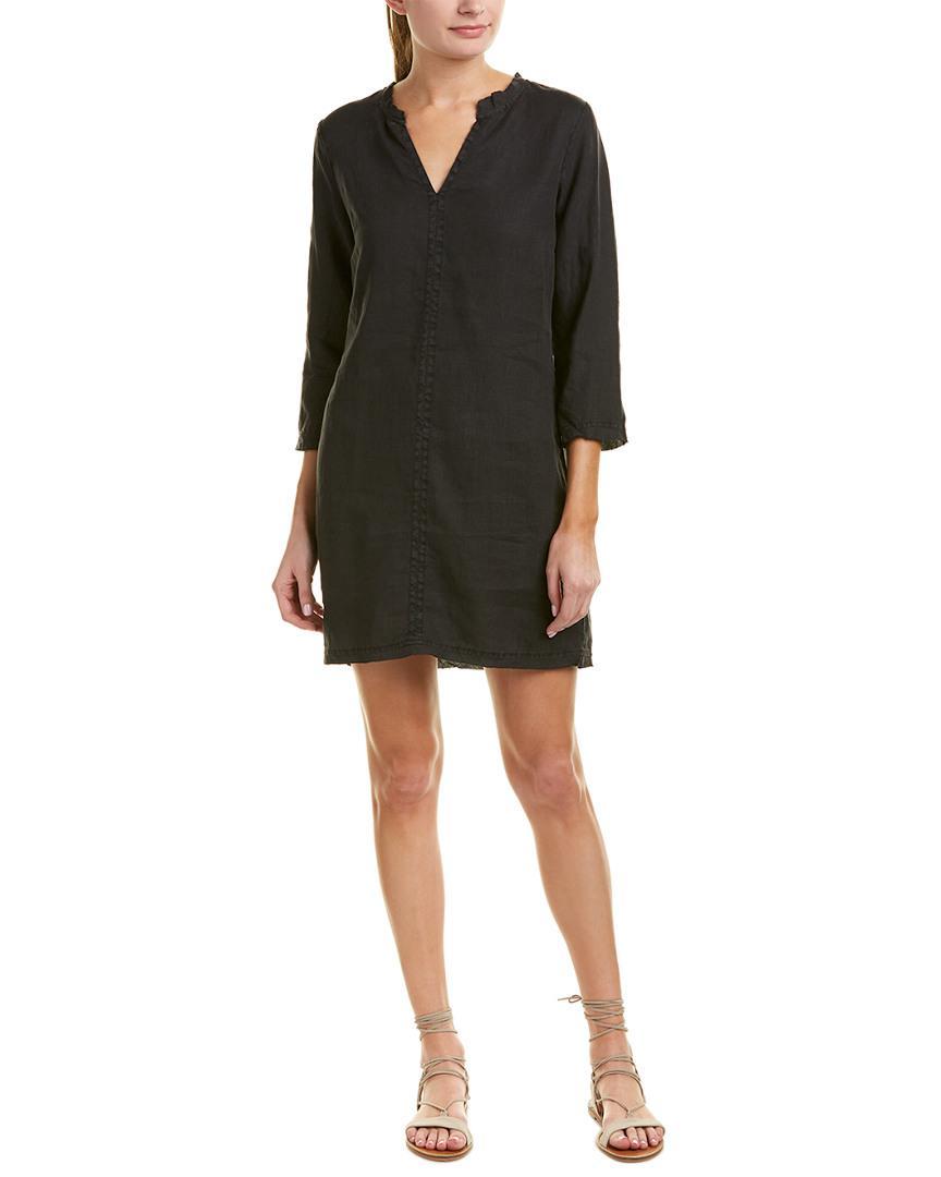e5f631bd2b0 Lyst - Michael Stars Frayed Linen Shift Dress in Black