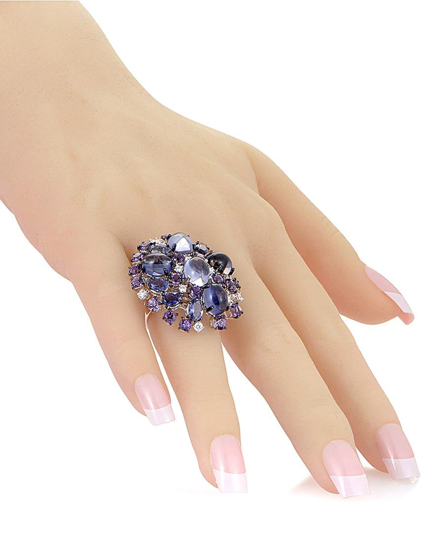 Roberto Coin 18k 0.52 Ct. Tw. Diamond & Gemstone Ring in Blue