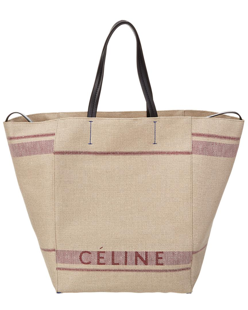 f46229235f96 Céline Céline Large Cabas Phantom Canvas Tote in Purple - Lyst