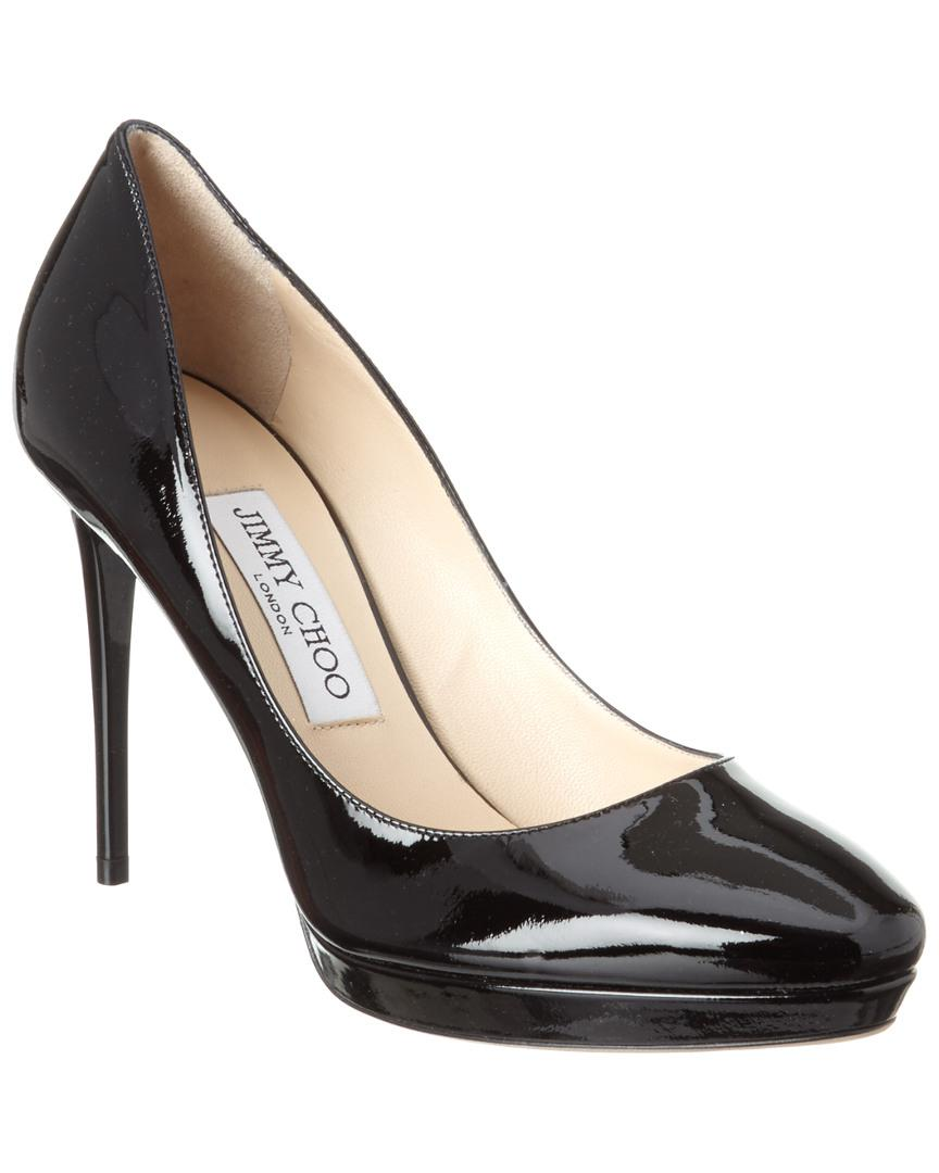d2f214330aef Lyst - Jimmy Choo Hope 100 Patent Platform Pump in Black