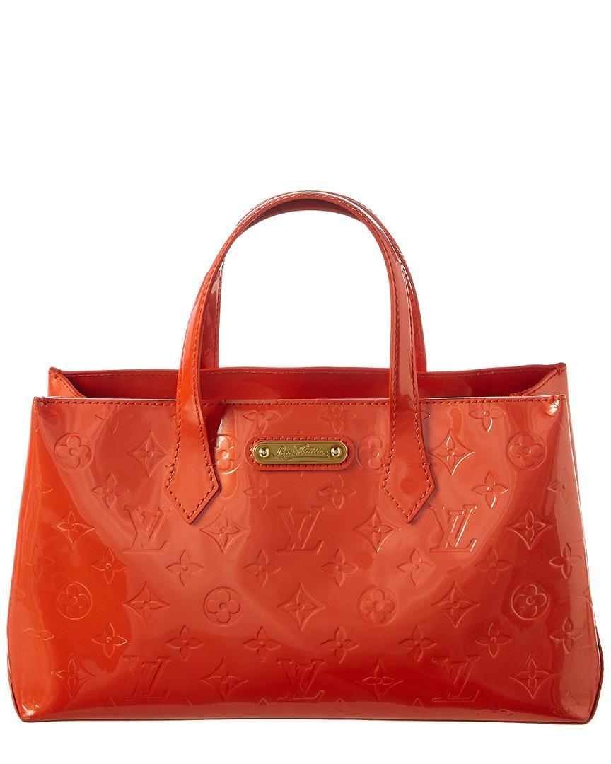 9771200eb5a6 Lyst - Louis Vuitton Orange Sunset Monogram Vernis Leather Wilshire ...