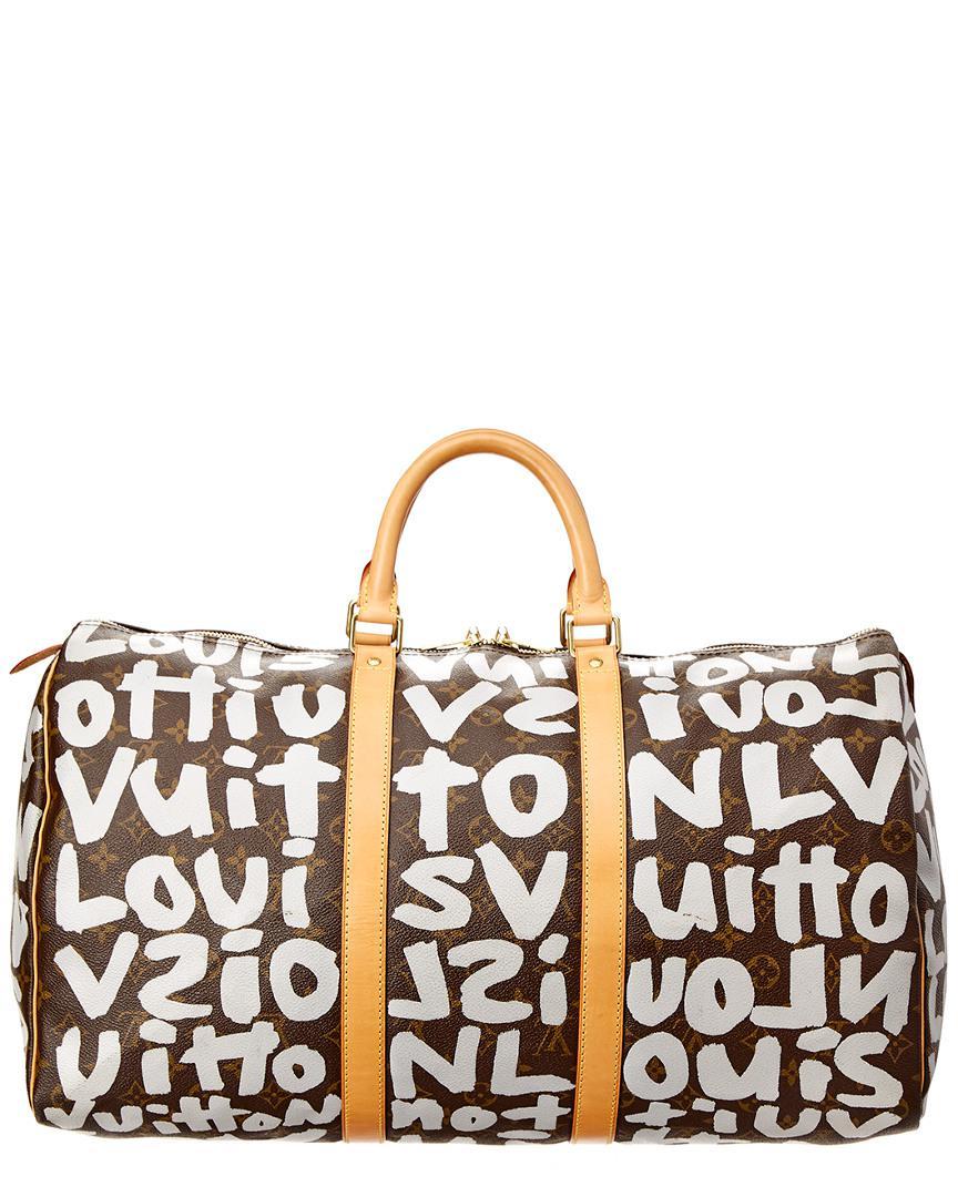d03f5b1aec1 Louis Vuitton Limited Edition Stephen Sprouse Grey Graffiti Monogram ...