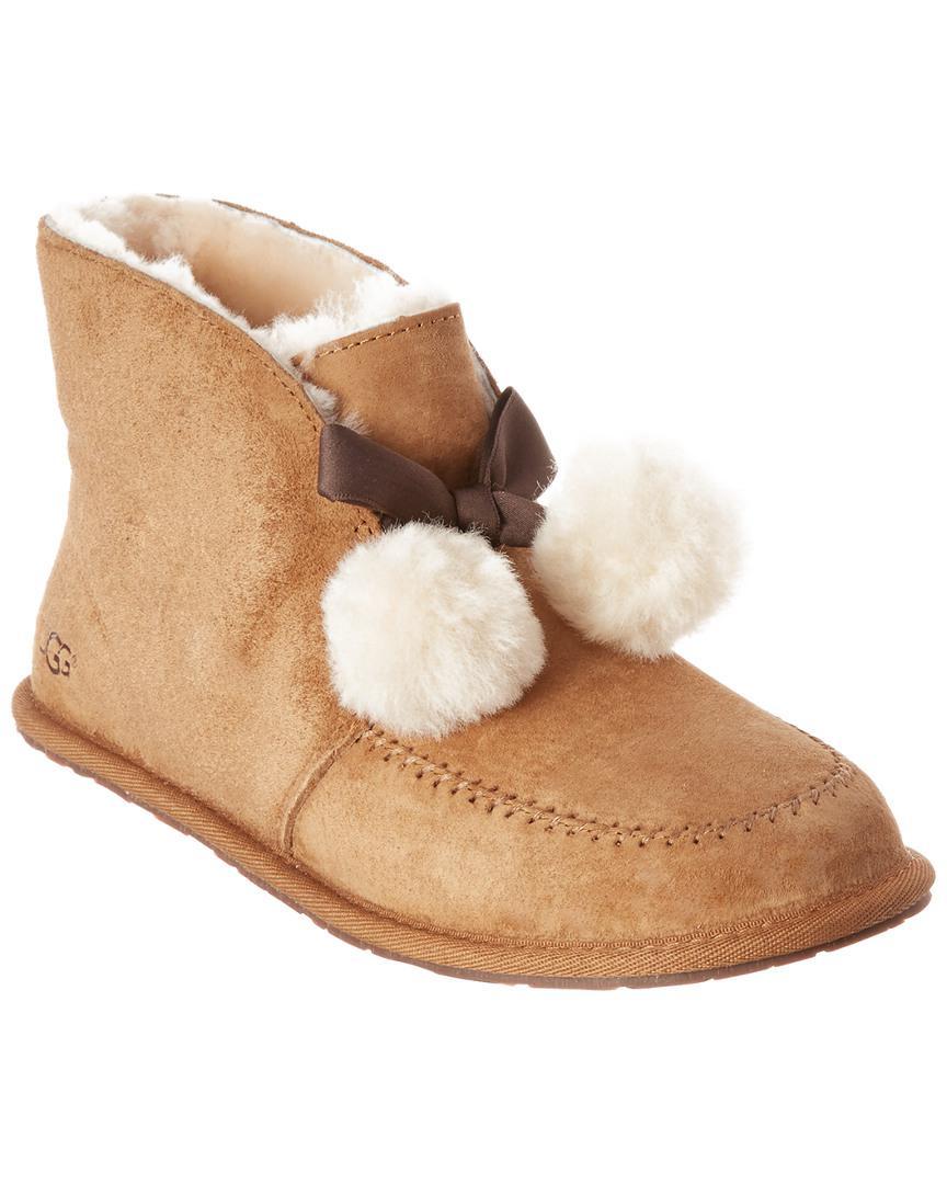 e1040226c46 Lyst - Ugg Women's Kallen Silkee Water-resistant Suede Slipper in Brown