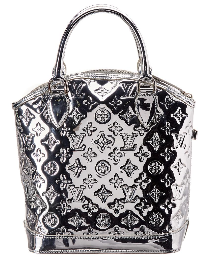 55fa0f4a7020 Lyst - Louis Vuitton Limited Edition Silver Monogram Miroir Leather ...