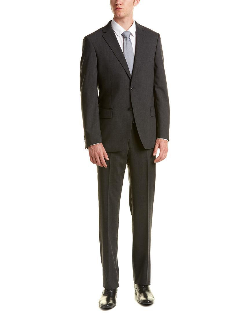 Ike Behar Wool Smart Suit in Grey (Grey) for Men