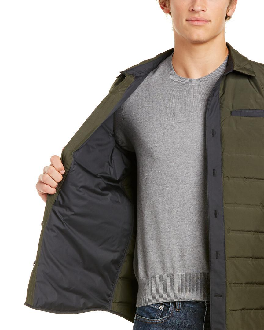 Victorinox Synthetic Swiss Army Insulated Shirt Down Jacket in Green for Men
