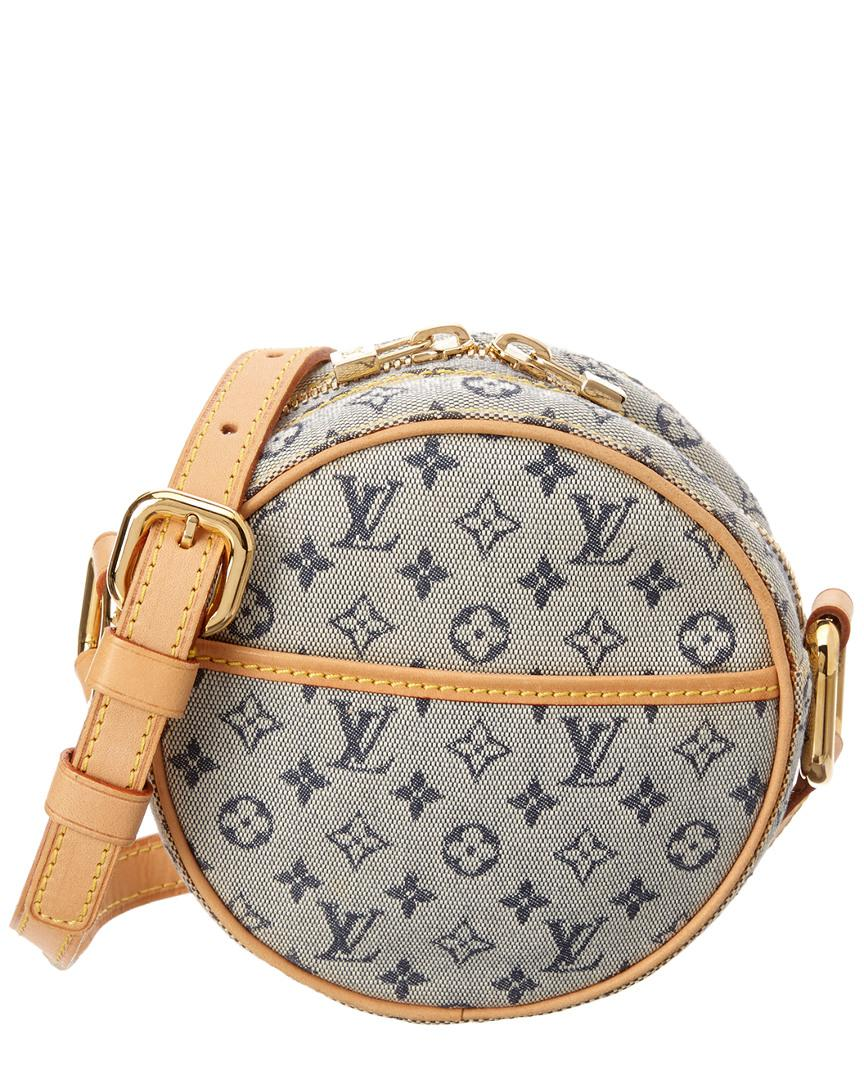 5d5a4421797b Lyst - Louis Vuitton Navy Monogram Mini Lin Canvas Jeanne Pm