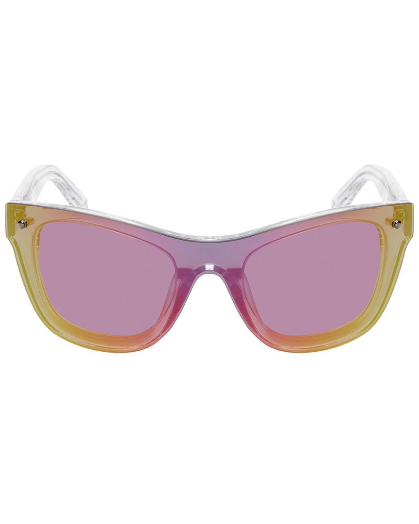 01b9321926f Lyst - Linda Farrow 34 Mirror Shield Frame in Purple