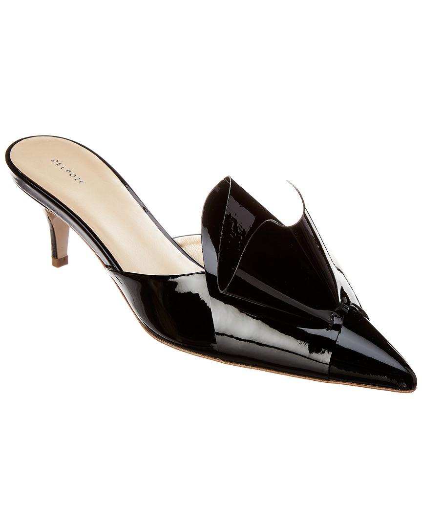 ccc35ba015 Lyst - Delpozo Bow Patent Mule in Black - Save 0.25%