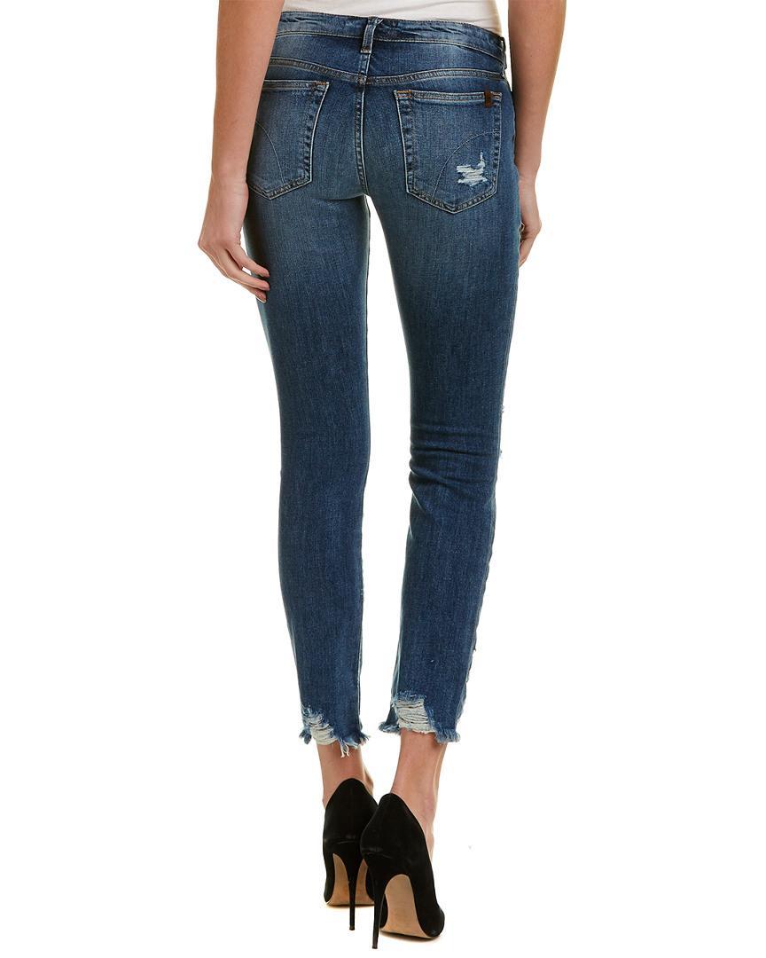 Joe's Jeans Cotton Sarah Skinny Ankle Cut in Blue