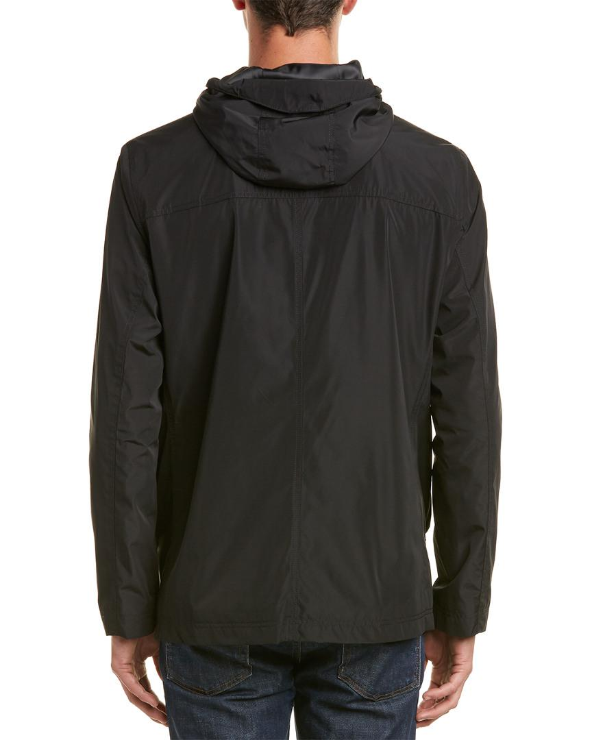 Cole Haan Synthetic Rain Jacket in Black for Men