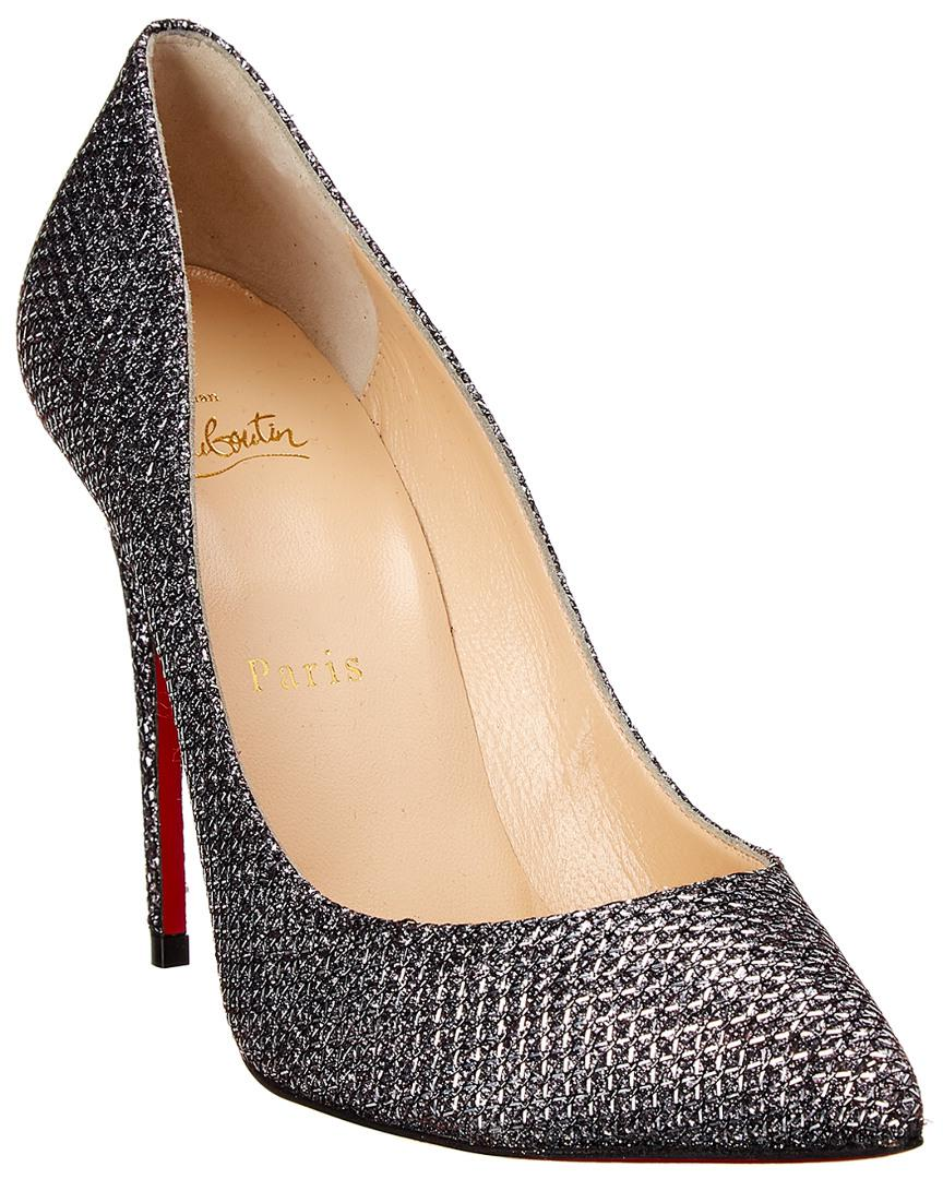 in stock dd9ab df9cf Christian Louboutin - Metallic Pigalle Follies 120 Leather Pump - Lyst