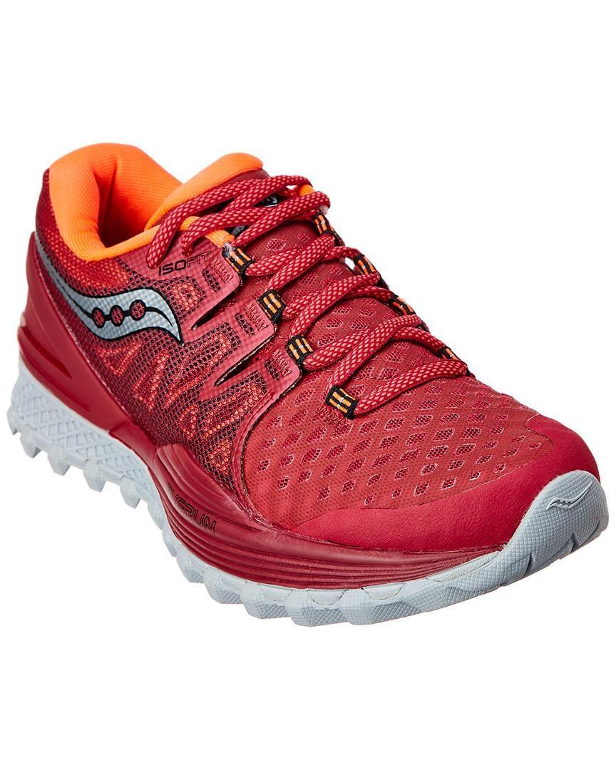 35361cc0c161 Lyst - Saucony Women s Xodus Iso 2 Running Shoe in Pink