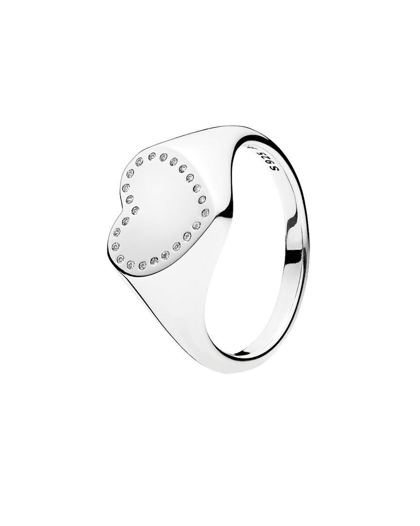 837a0ec6e PANDORA Silver Cz Heart Ring in Metallic - Lyst