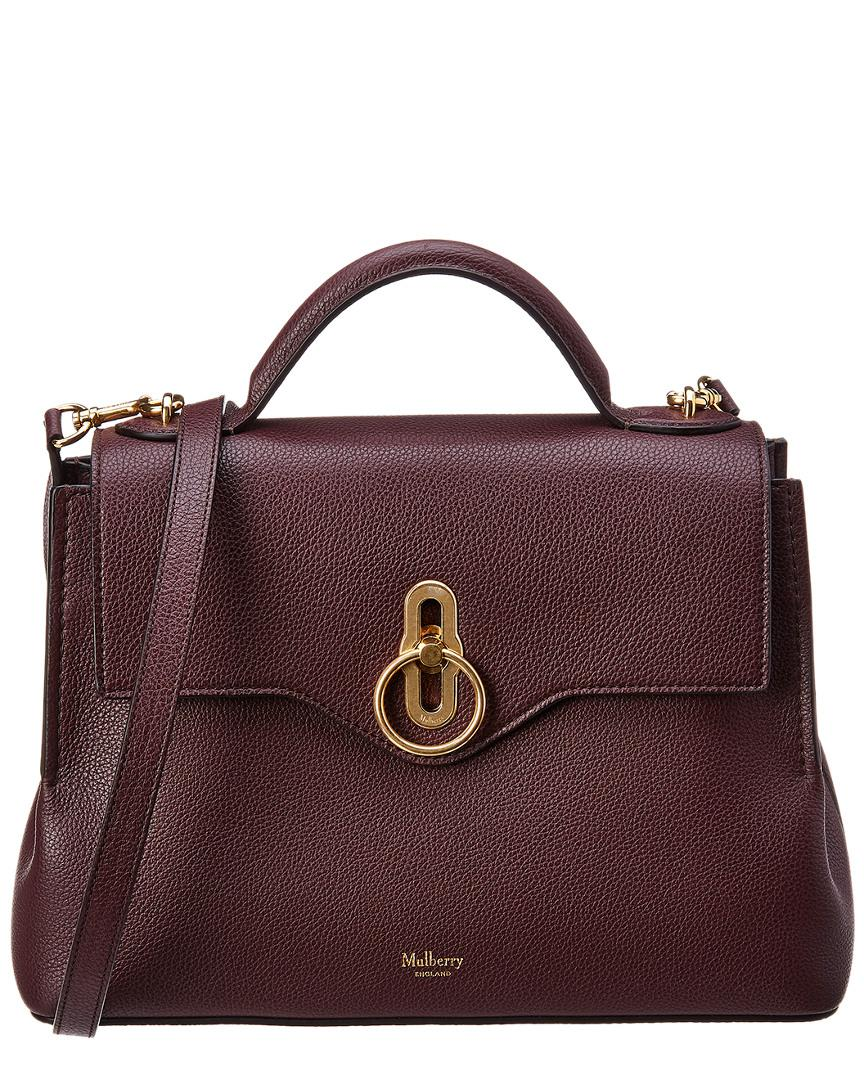 Mulberry - Red Small Seaton Leather Satchel - Lyst. View fullscreen 0db3b570d6fa9