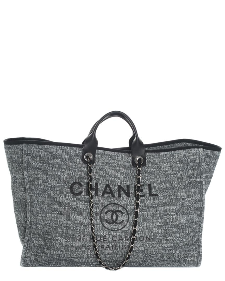 4d6e820b18dc20 Chanel 2018 Limited Edition Blue Canvas Deauville Grande Shopper in ...