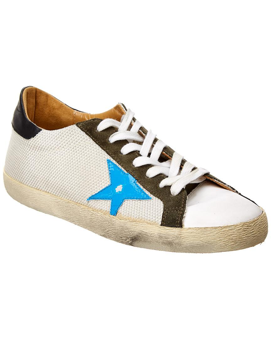 Deluxe Leather Suede Gloves: Golden Goose Deluxe Brand Suede & Leather Skateboard