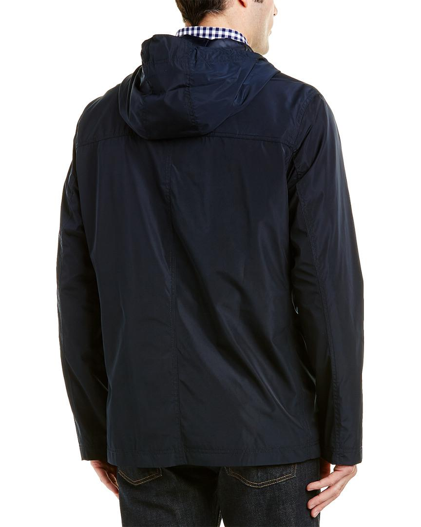 Cole Haan Synthetic Rain Jacket in Navy (Blue) for Men