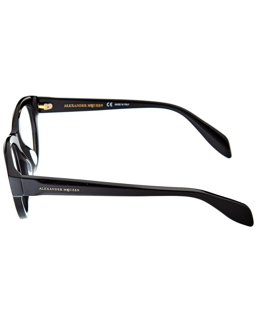 BLACK Eyeglasses Alexander McQueen MQ 0045 O 001 AVANA