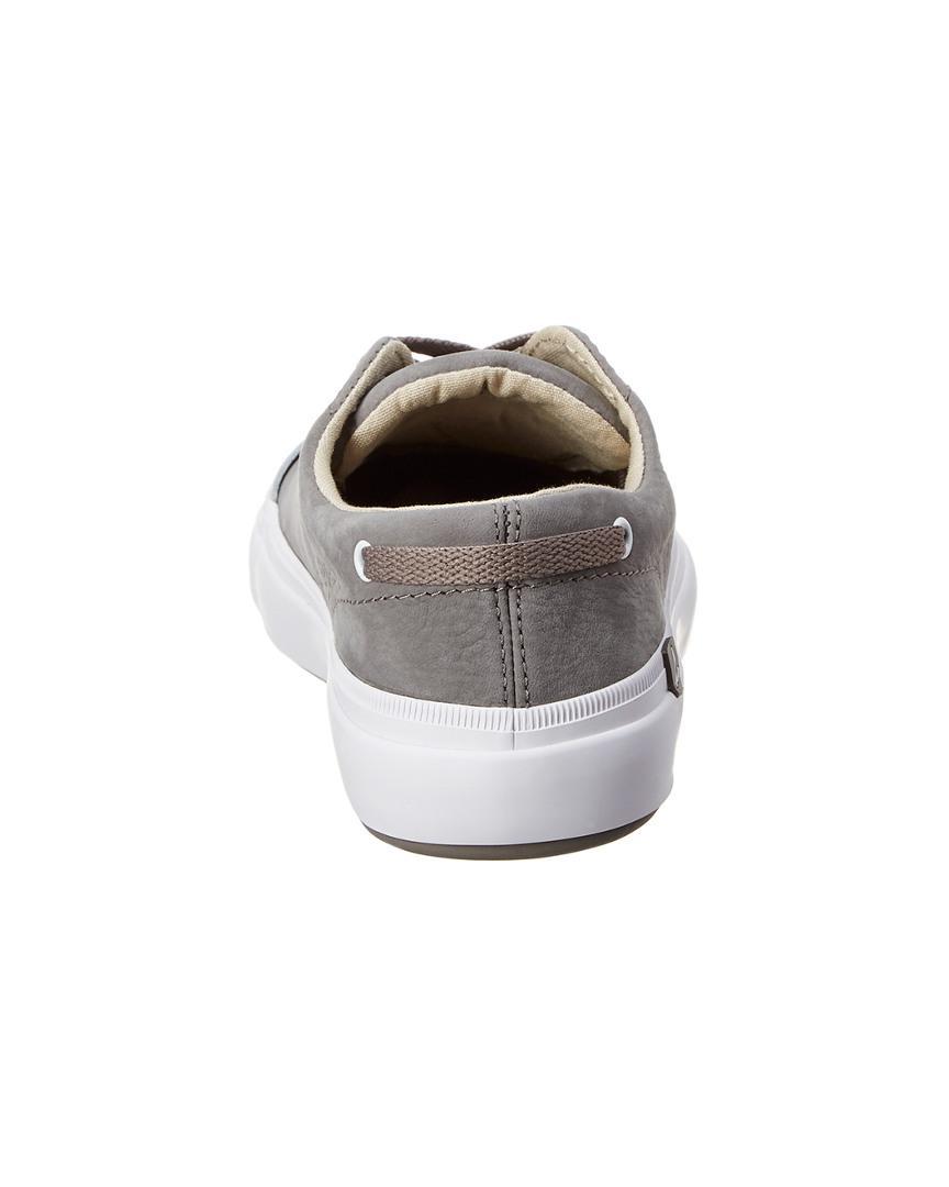 Sperry Top-Sider Women's Haven Cap Toe Leather Sneaker in Grey (Grey)