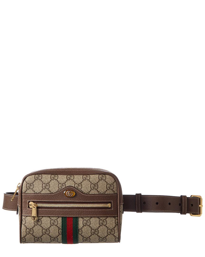 81044c5e027 Lyst - Gucci Ophidia Small GG Supreme Canvas Belt Bag in Brown