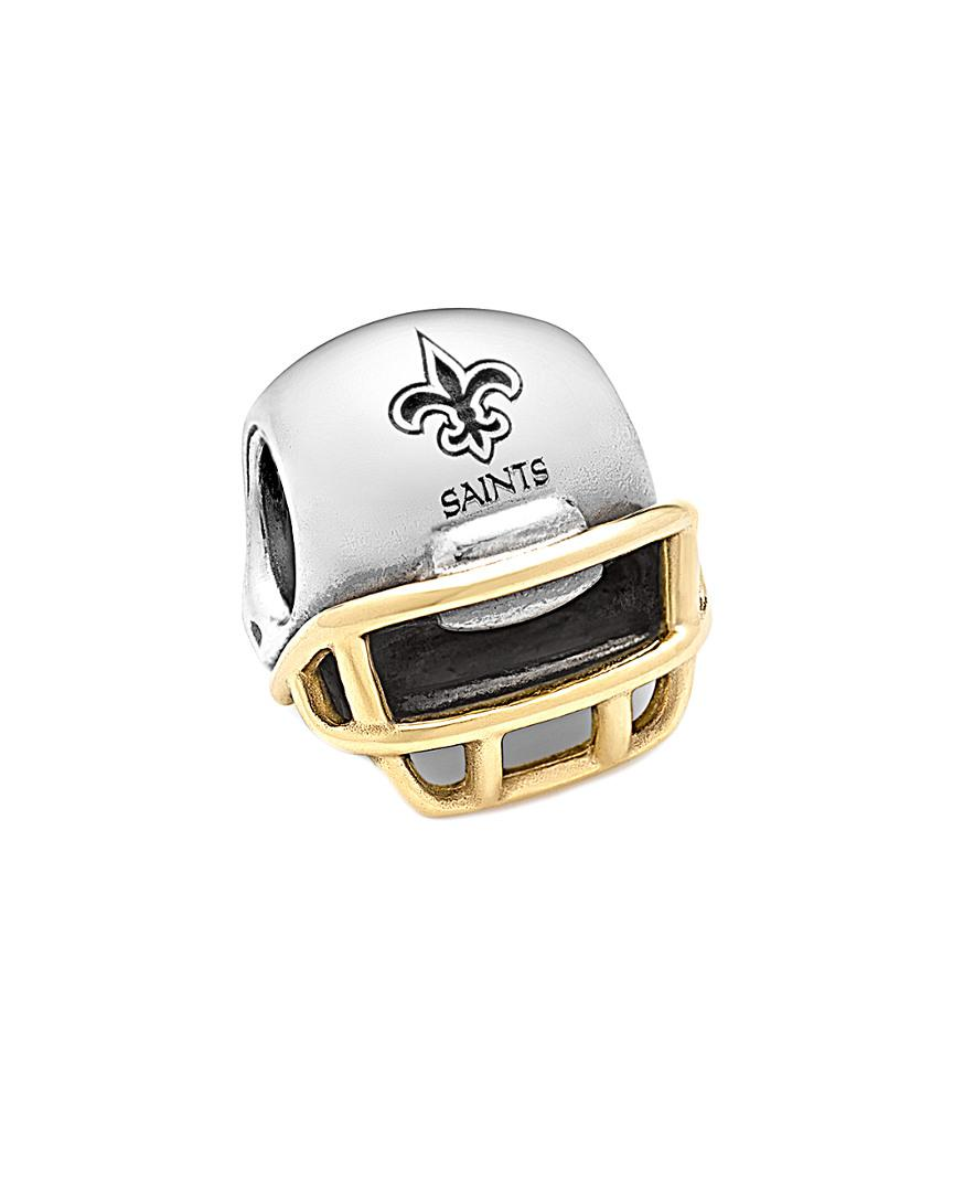 Nfl 14k & Silver New Orleans Saints Helmet Charm