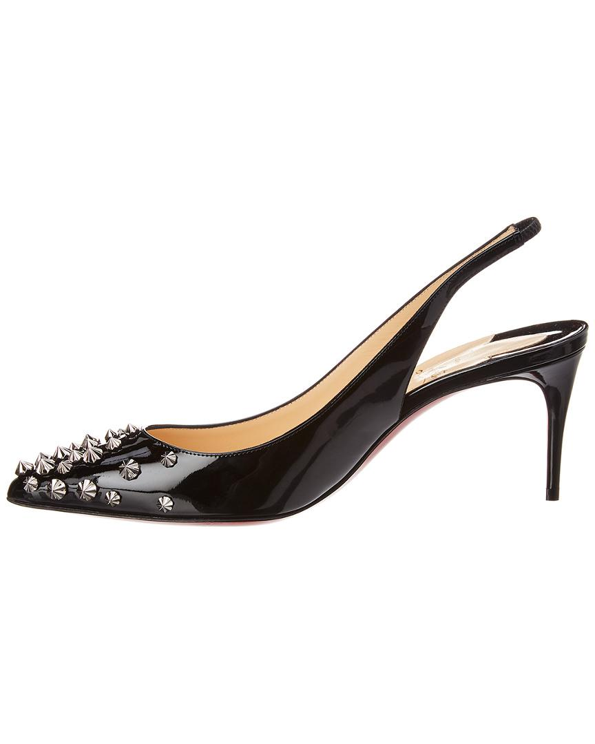 506075a2240a Christian Louboutin Drama Sling 70 Patent Leather Pumps in Black - Save 14%  - Lyst