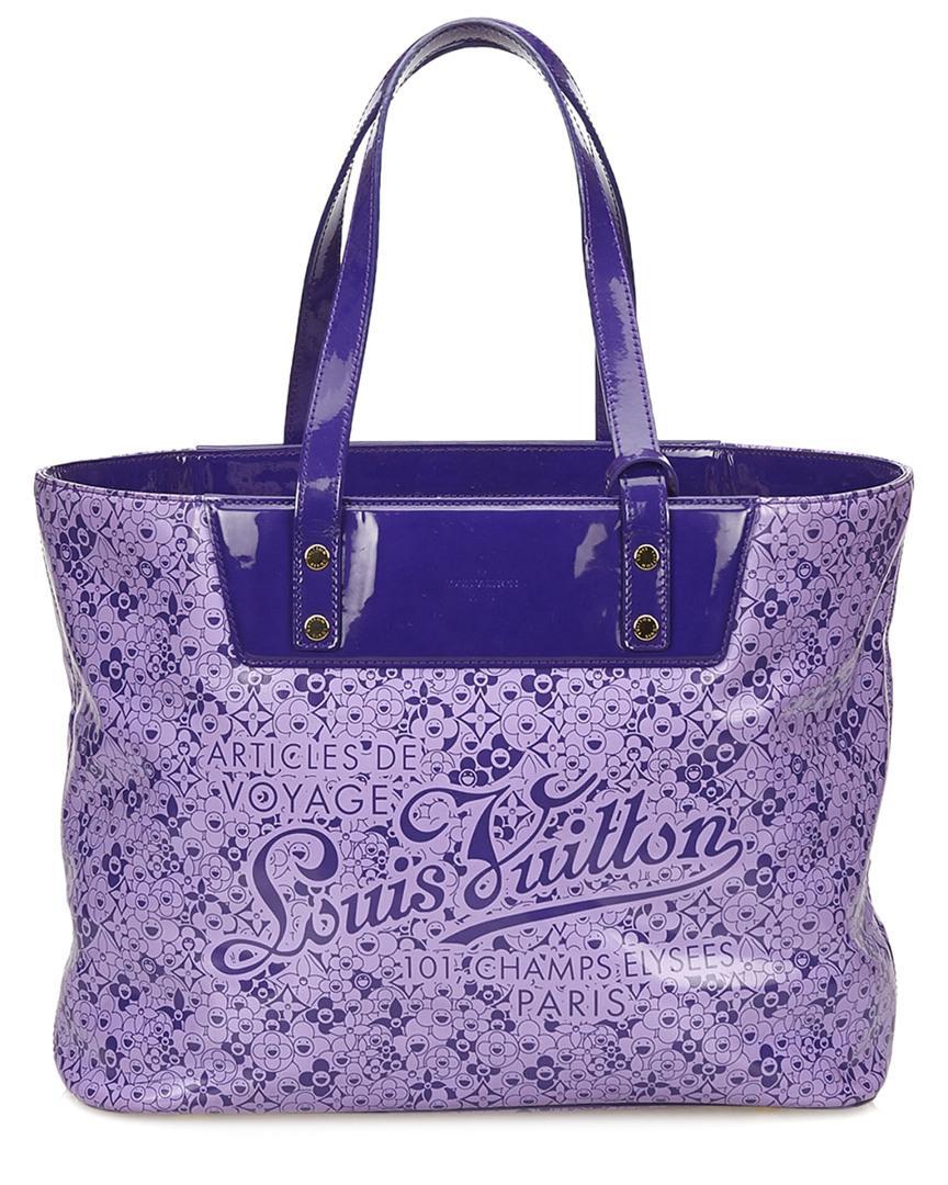 dbe5907ddae01 Louis Vuitton Limited Edition Purple Cosmic Blossom Monogram Vinyl ...