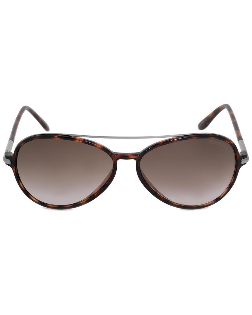 11da6b6edb28 Lyst - Tom Ford Unisex Ramone Aviator Sunglasses Ft0149 52f 58 ...