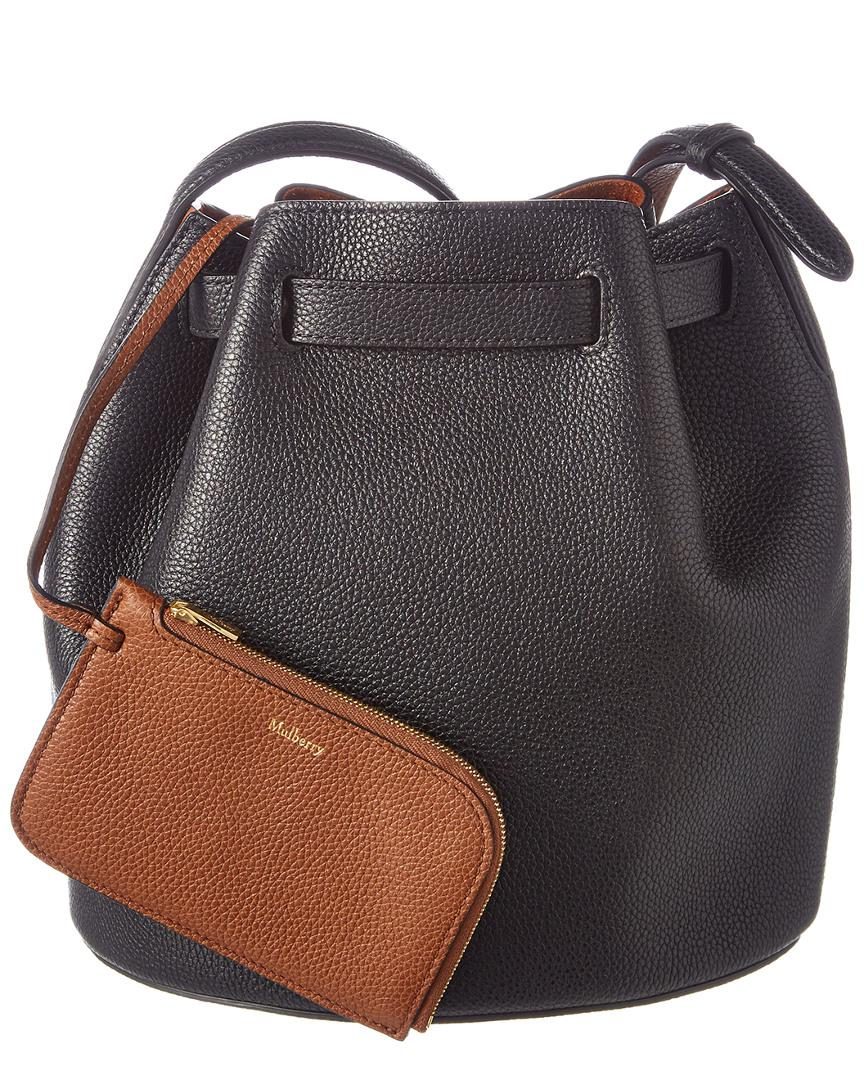 a598a66ce1 Lyst - Mulberry Abbey Small Classic Grain Leather Bucket Bag in Black