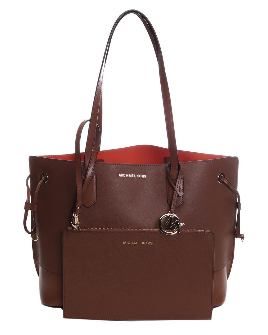 62de81381404 Michael Kors - Multicolor Trista Large Draw String Leather Tote - Lyst.  View fullscreen
