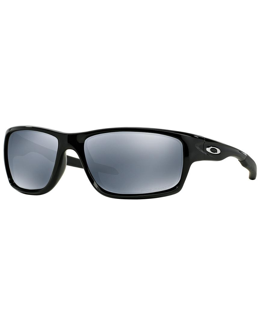 ce3ef4f31d Lyst - Oakley Men s Canteen 60mm Polarized Sunglasses in Black for Men