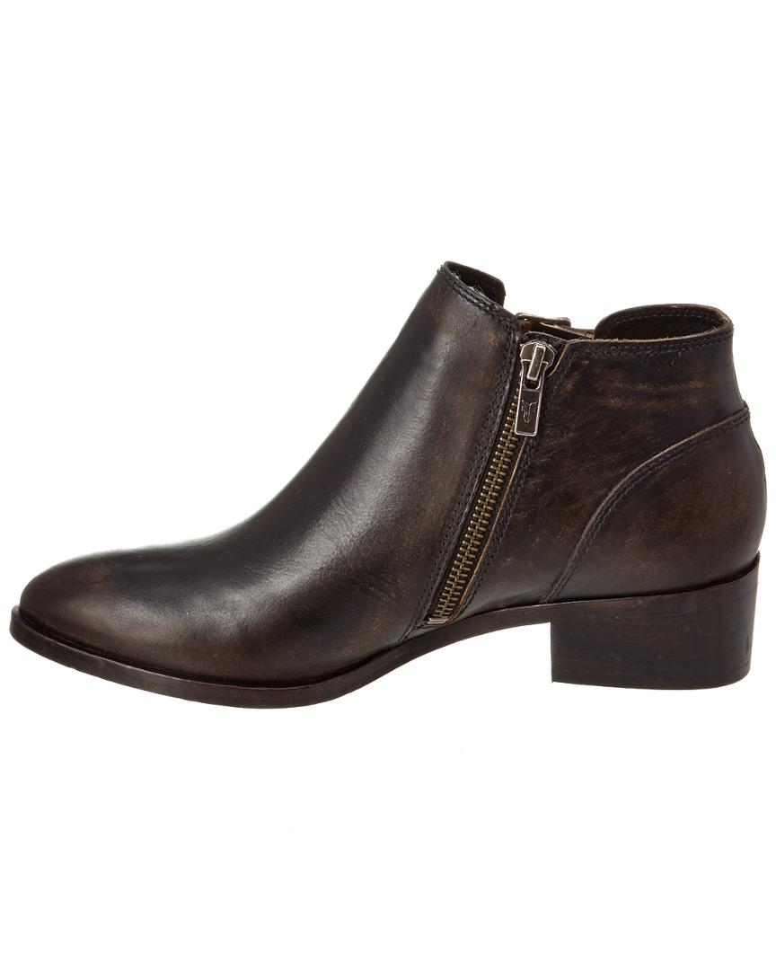 Frye Ray Belted Leather Bootie in Black