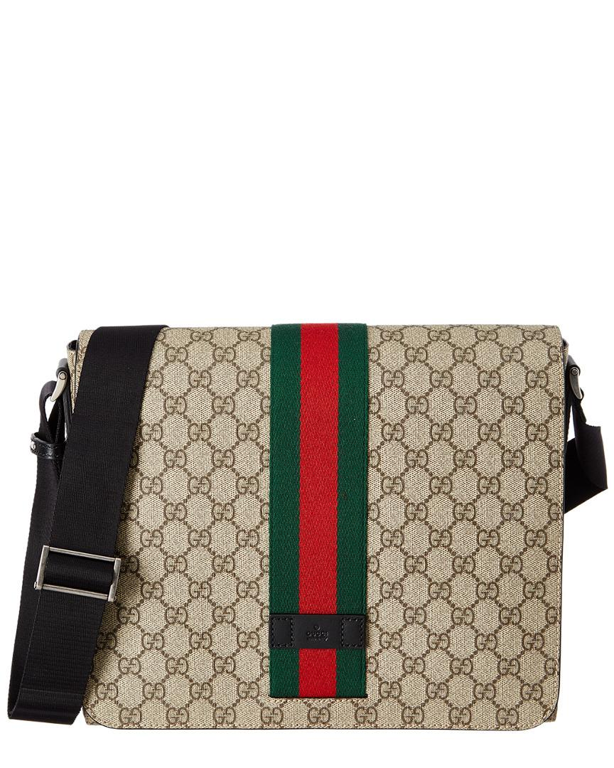 c920459d91c Lyst - Gucci Gg Supreme Canvas Messenger Bag in Brown