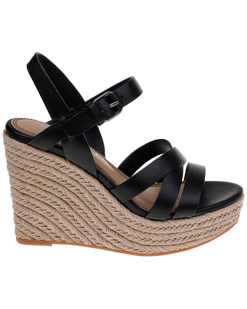 94afa98a269 Women's Black Billie Leather Wedge Sandal