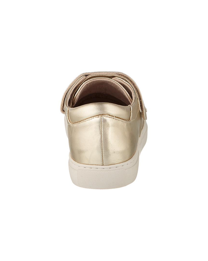 Kenneth Cole Kingcro Leather Sneaker in Soft Gold (Metallic)