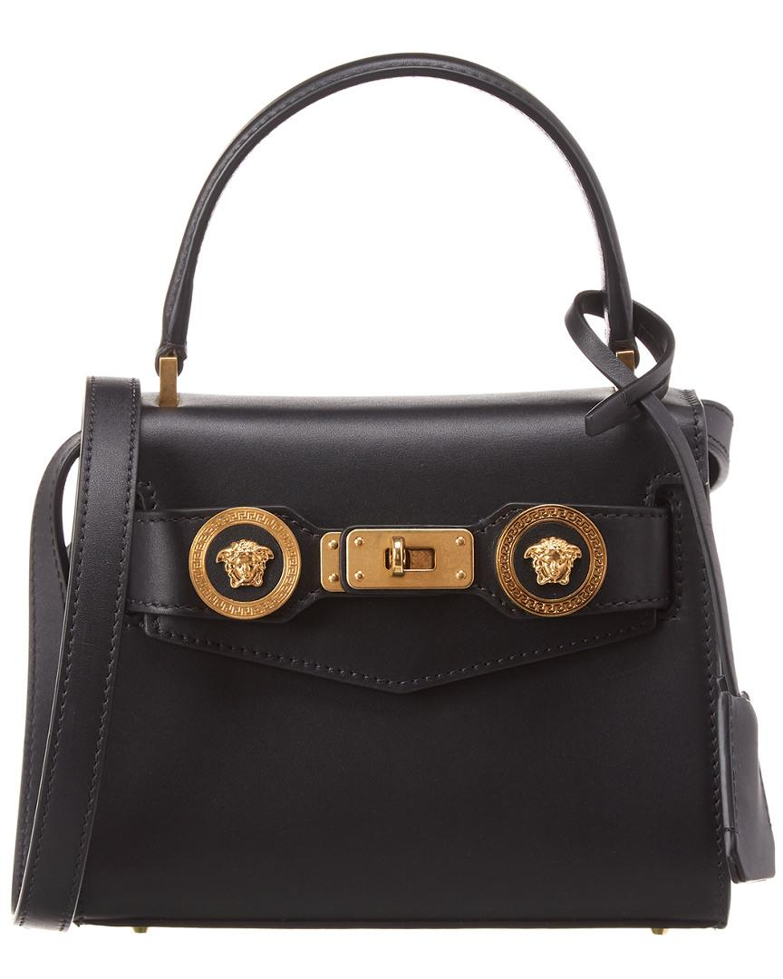 Versace Icon Small Leather Satchel in Black - Lyst 50f704c2b92b2