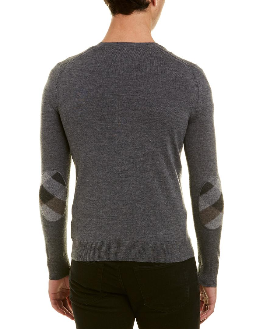 2360aa9d36fd Lyst - Burberry Wool V-neck Sweater in Gray for Men