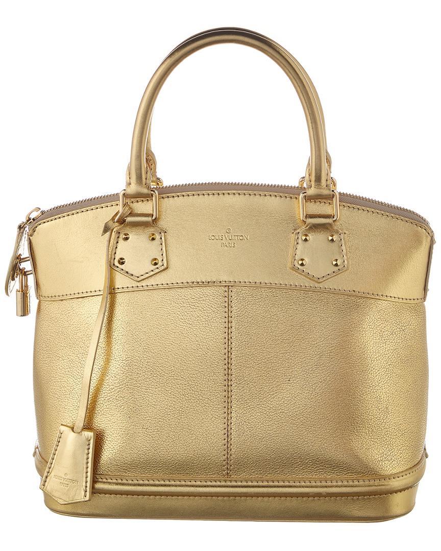 9aef4057c6b4 Louis Vuitton Gold Suhali Leather Lockit Pm in Metallic - Lyst